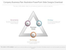 Company Business Plan Illustration Powerpoint Slide Designs Download