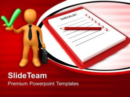Company Business Strategy Powerpoint Templates Check List Ppt Slides