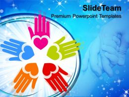 Company Business Strategy Templates Circle Of Loving Hand Metaphor Ppt Designs Powerpoint