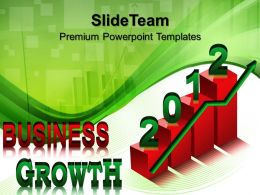 Company Business Strategy Templates Growth With Green Arrow Success Ppt Designs Powerpoint