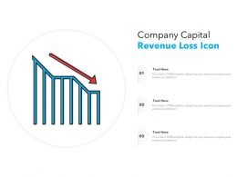 Company Capital Revenue Loss Icon