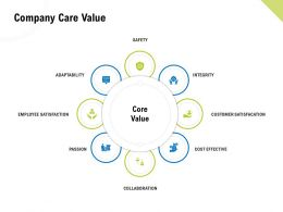 Company Care Value Employee Satisfaction Ppt Examples