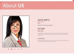 Company Ceo Introduction About Us Page Powerpoint Slides