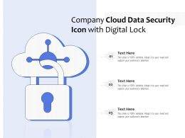 Company Cloud Data Security Icon With Digital Lock