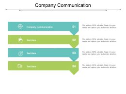 Company Communication Ppt Powerpoint Presentation Pictures Deck Cpb