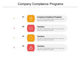 Company Compliance Programs Ppt Powerpoint Presentation Pictures Guide Cpb