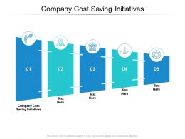 Company Cost Saving Initiatives Ppt Powerpoint Presentation Show Visuals Cpb
