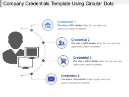 Company Credentials Template Using Circular Dots