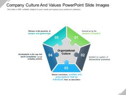 Company Culture And Values Powerpoint Slide Images