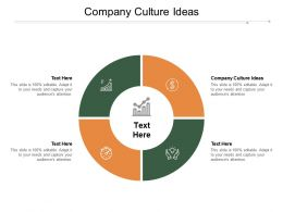 Company Culture Ideas Ppt Powerpoint Presentation Slides Inspiration Cpb