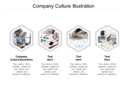 Company Culture Illustration Ppt Powerpoint Presentation Clipart Cpb