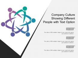 Company Culture Showing Different People With Text Option