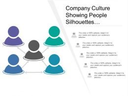 Company Culture Showing People Silhouettes