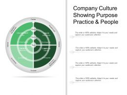 Company Culture Showing Purpose Practice And People
