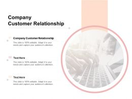 Company Customer Relationship Ppt Powerpoint Presentation Visual Aids Icon Cpb