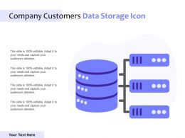 Company Customers Data Storage Icon
