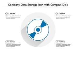 Company Data Storage Icon With Compact Disk