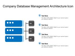Company Database Management Architecture Icon