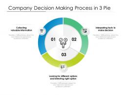 Company Decision Making Process In 3 Pie