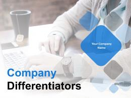 Company Differentiators Powerpoint Presentation Slides