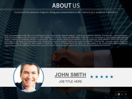Company Director Profile For About Us Powerpoint Slides