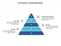 Company Diversification Ppt Powerpoint Presentation Portfolio Deck Cpb
