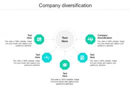 Company Diversification Ppt Powerpoint Presentation Slides Samples Cpb