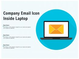 Company Email Icon Inside Laptop