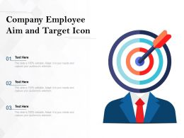 Company Employee Aim And Target Icon