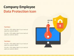 Company Employee Data Protection Icon