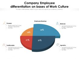 Company Employee Differentiation On Bases Of Work Culture