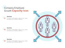 Company Employee Growth Capacity Icon