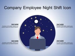 Company Employee Night Shift Icon