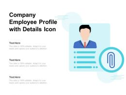 Company Employee Profile With Details Icon