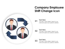 Company Employee Shift Change Icon