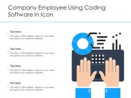 Company Employee Using Coding Software In Icon
