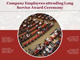 Company Employees Attending Long Service Award Ceremony