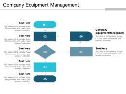 Company Equipment Management Ppt Powerpoint Presentation Gallery Tips Cpb
