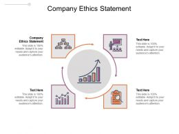 Company Ethics Statement Ppt Powerpoint Presentation Professional Pictures Cpb