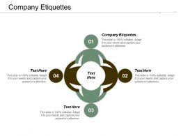 Company Etiquettes Ppt Powerpoint Presentation Slides Smartart Cpb