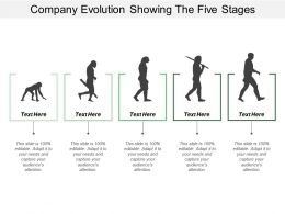 Company Evolution Showing The Five Stages