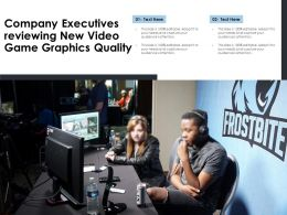 Company Executives Reviewing New Video Game Graphics Quality