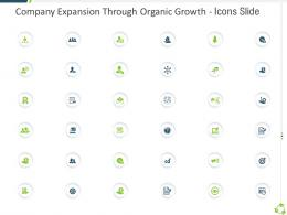 Company Expansion Through Organic Growth Icons Slide Ppt Professional