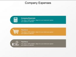Company Expenses Ppt Powerpoint Presentation Gallery Design Ideas Cpb