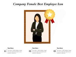 Company Female Best Employee Icon