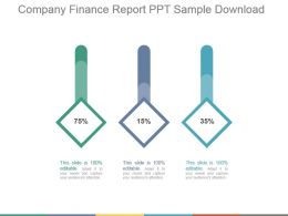 Company Finance Report Ppt Sample Download