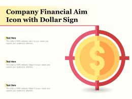 Company Financial Aim Icon With Dollar Sign