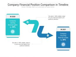 Company Financial Position Comparison In Timeline