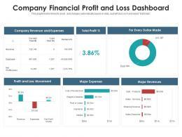 Company Financial Profit And Loss Dashboard