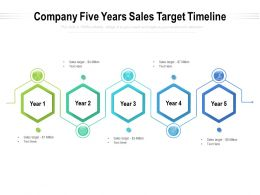 Company Five Years Sales Target Timeline